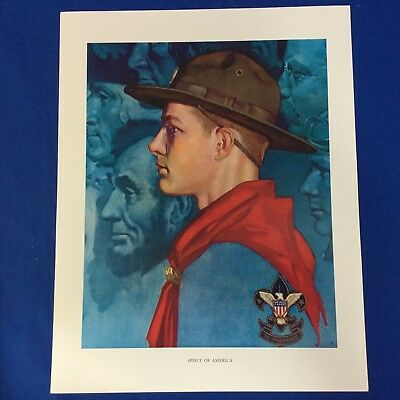 "Norman Rockwell Boy Scout Print 11""x14"" Spirit Of America"