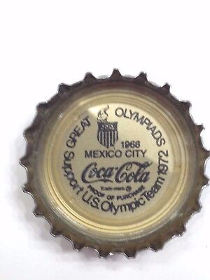 COCA COLA BOTTLE CAP Great Olympiads Support US Olympic Team COKE Mexico City