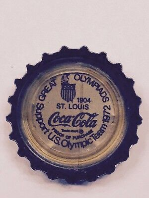 COCA COLA BOTTLE CAP Great Olympiads Support US Olympic Team COKE St. Louis