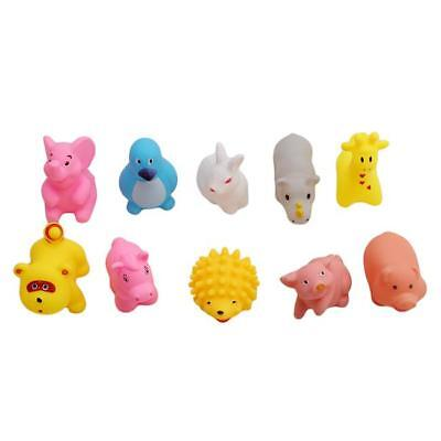10Pcs Bath Toys Cute Cartoon Baby Soft Bath Toy Model Of Marine/Land Animal J