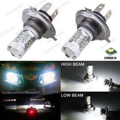 2Pcs H4 80W Cree LED Bright White Headlights Bulbs Lamp For CanAm Bombardier