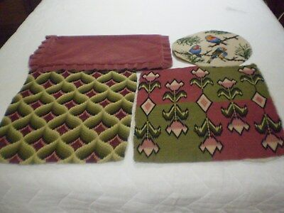 Vintage Bargello Tapestries X 2. Bird Tapestry X 1. Cushion Cover X 1