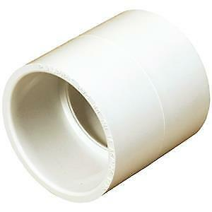 PVC  40mm PN18 Straight Coupling White Qty of 5 Peices