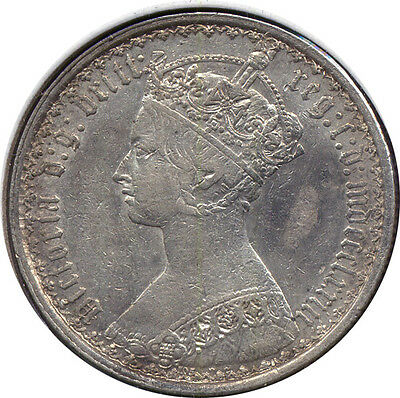 1873 Great Britain Gothic Florin - XF