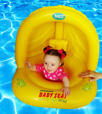 Baby Swim Trainer Seat with Sunshade Level 1 6 Months Plus upto 12KG NEW