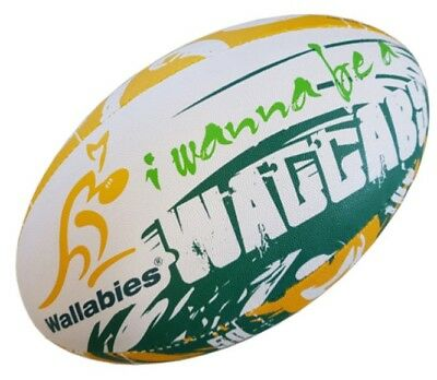 Australia Wallabies Gilbert Supporter Rugby Union Ball Full Size 5 w Hand Pump