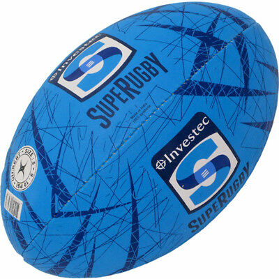 Super Rugby Union Gilbert Official Supporter Rugby Ball Full Size w Hand Pump