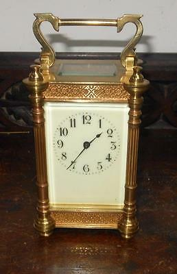 pretty brass cased carriage clock