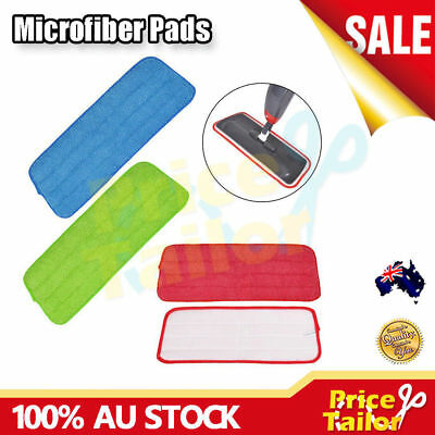 OZ Replacement Microfiber Pads Spray Water Spraying Flat Dust Mop Floor Cleaning