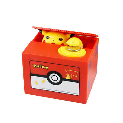 Pokemon-Go Inspired Pikachu Itazura Moving Electronic Coin Piggy Bank With Box