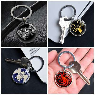 Game of Thrones House Logo Keychain Keyring Pendants Keychains Gift