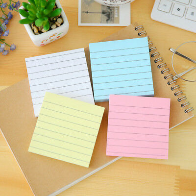 80 Pages Soild Color Memo Pad Diy Office Supplies Kawaii Stationery Sticky Notes