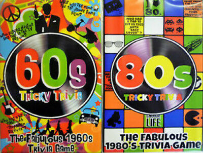 TRICKY TRIVIA QUIZ FABULOUS 80s / 60s TRIVIA GAME 240 GROOVY FABULOUS  QUESTIONS