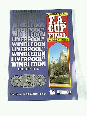 Liverpool vs Wimbledon FA Cup Final 1988 (Used)