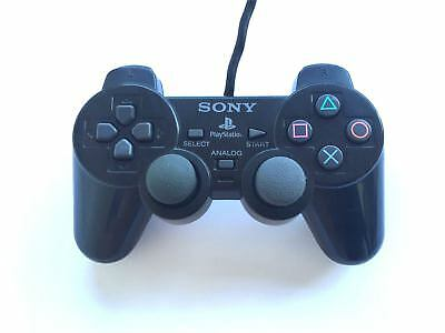 Official Original Sony Dual Shock 2 Wired Playstation PS2 Controller Pad Black