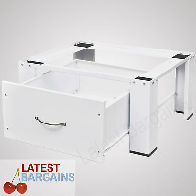 Washing Machine Stand Pedestal Laundry Steel Storage Drawer