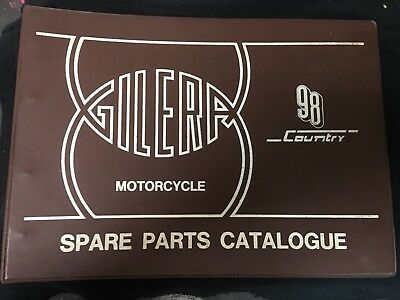 Gilera Motorcycle Illustrated Parts Catalogue 98 Country Rare Complete