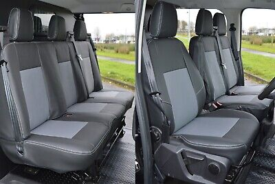 FORD TRANSIT CUSTOM DCIV VAN 2013 TAILORED REAR SEAT COVERS GREY 131
