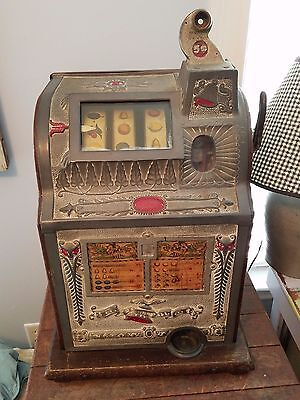 Antique Mills Liberty Bell 5 Cent Slot Machine