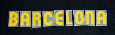 Barcelona 2010/11 Home Player Size Letter for Football Shirts