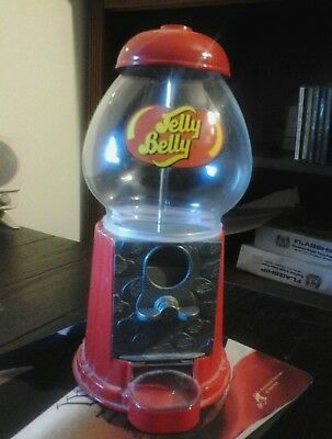 Jelly Belly Jelly Bean Die-Cast Metal Glass Globe Candy Dispenser & Coin Bank