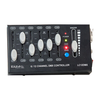 Ibiza Light 12-Channel Mini DMX Controller Mini Lighting Stage Light DJ Disco