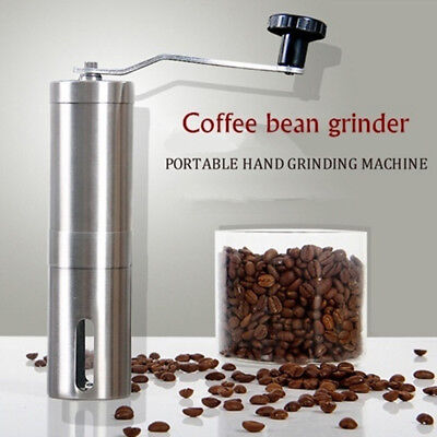 Ceramic Burr Manual Coffee Grinder Portable Hand Crank Stainless Coffee Mill