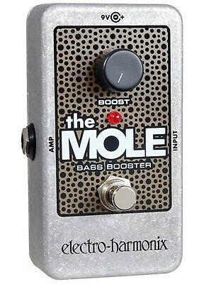 EHX Electro Harmonix The Mole Bass Booster Guitar Effects Pedal