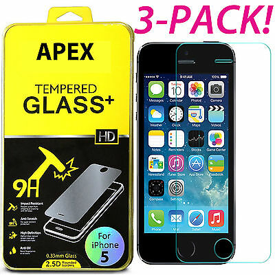 Premium Screen Protector Real Tempered Glass Film for iPhone SE 5 5s 6 6s 7 Plus