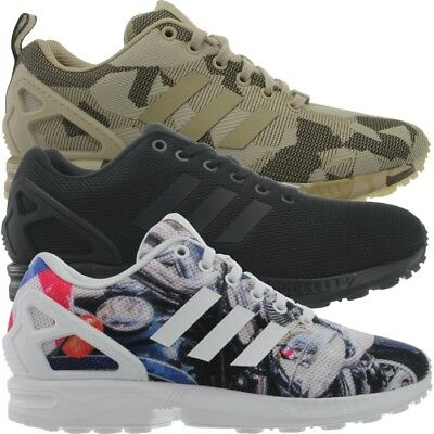 the latest 609f0 07e4c ADIDAS ZX FLUX men's sneakers blue/black/brown running casual shoes NEW