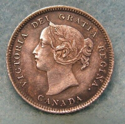 1901 Canada 5 Five Cent Silver Choice XF++ Nice!! * World Coin #1519