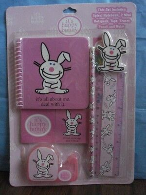 """it's happy bunny"" stationery set - new in plastic"