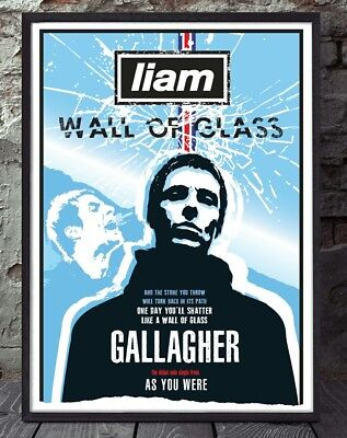 Liam gallagher as you were oasis poster. Specially created.
