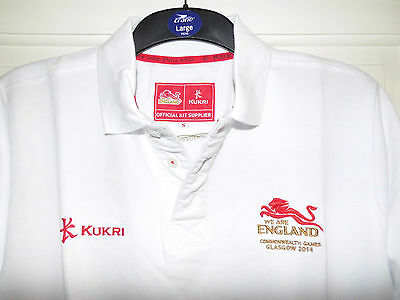 NEW England Commonwealth Games KUKRI Memorabilia team issue issued POLO shirt