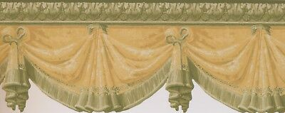 "AV057122BD DIE CUT VICTORIAN CURTAINS 15' x 9"" Wallpaper Border"