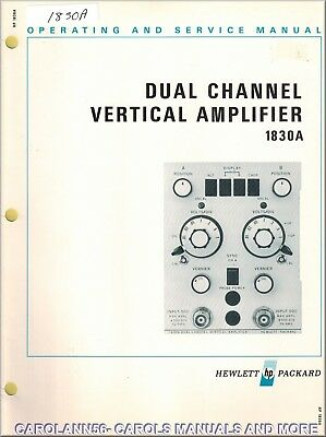 HP Manual 1830A DUAL CHANNEL VERTICAL AMPLIFIER