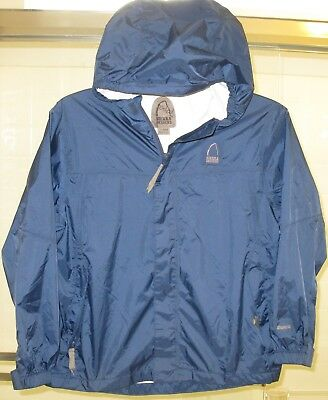 Kid's Sierra Designs 100% nylon zip up hooded rain jacket (shell) size X-large