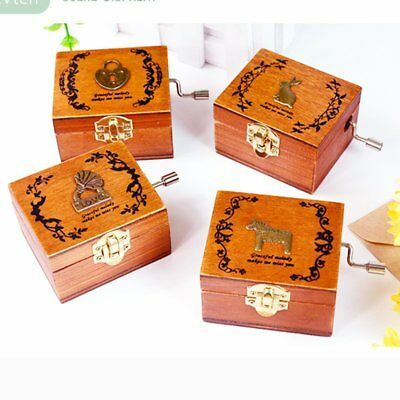 Merry Christmas Engraved Wooden Music Box Interesting Child Kids Toys Xmas Gift