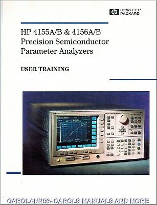 HP Manual 4155A B & 4156A B PRECISION SEMICONDUCTOR PARAMETER ANALYZERS