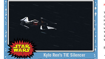 2017 Topps Countdown To Star Wars The Last Jedi Kylo Ren Tie Silencer #3