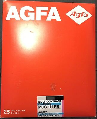 AGFA Fiber Base Photo Paper B&W MCC 111 Glossy Variable Contrast