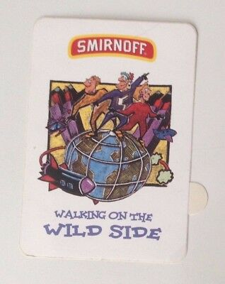 "Aufkleber / Sticker SMIRNOFF Wodka "" Walking on the wild side "" ca. 10 x 7 cm"