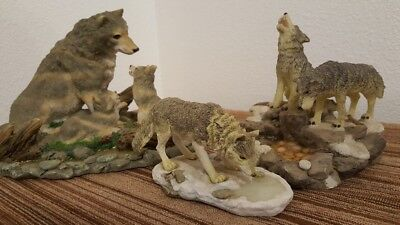 LOT OF 3  Wolf Figurines!!!!!!!!!!!!!!!!!!!!!!!!!!!!