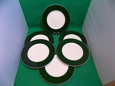 Wedgwood Asia Green Dinner Plates x 6