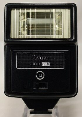 Vivitar Auto 215 Shoe Mount Flash in Pouch with Sync Cord
