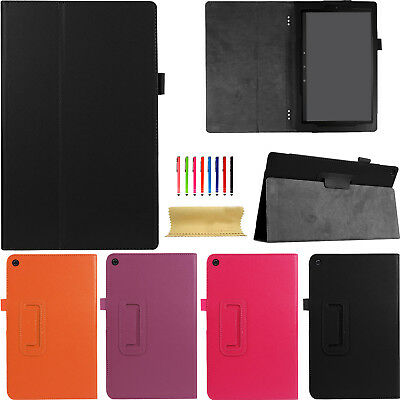 """For Amazon Kindle Fire HD 10 2017 10.1"""" Leather Shockproof Kickstand Smart Case"""