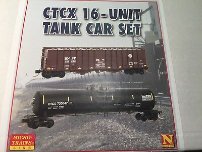 Mtl Micro-Trains N 993-01-540 *ctcx I6 Pc Oil Train Set*  Tank Cars (16 Pc Pack)