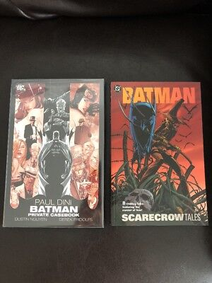 Batman Scarecrow Tales TPB +  Batman Private Casebook HC Hardcover Lot