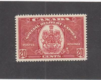 CANADA (LOT MK218) #E8 VF-MLH  20cts  SPECIAL DELIVERY DRK CARMINE CAT VALUE $10