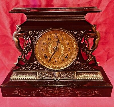 "Ansonia ""Roselind"" Chime Mantle Clock ~ Running ~ Striking ~ No Reserve"